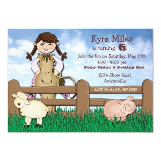 Invitación de la granja de la vaquera invitación 12,7 x 17,8 cm