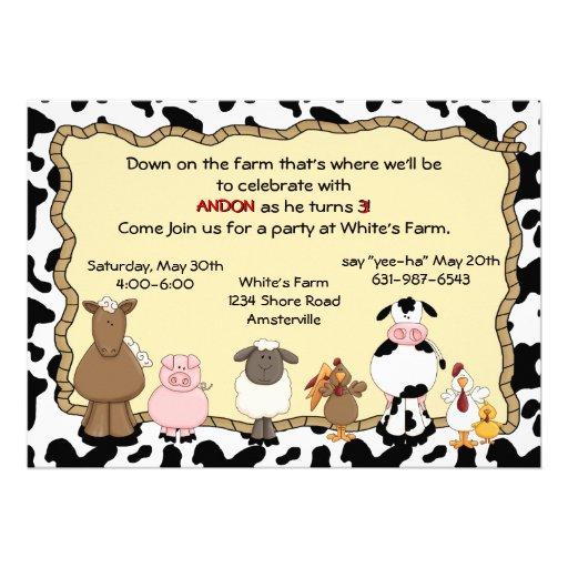 Invitación de la granja Yee-Ha