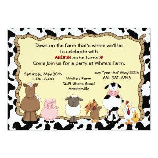 Invitación de la granja Yee-Ha Invitación 12,7 X 17,8 Cm