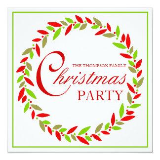 Invitación de la guirnalda de la fiesta de Navidad