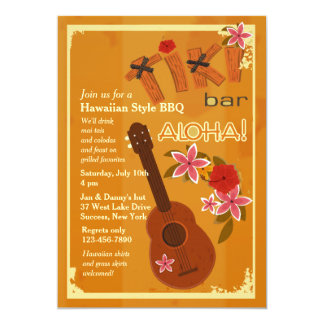 Invitación de la guitarra hawaiana