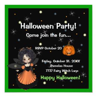 Invitación de la hada de Halloween