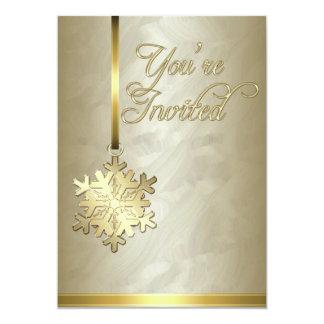 Invitación de la hoja de oro de la decoración del invitación 12,7 x 17,8 cm