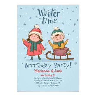 Invitación de la hora del recreo del invierno