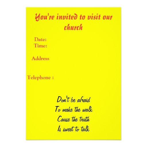 Invitación de la iglesia