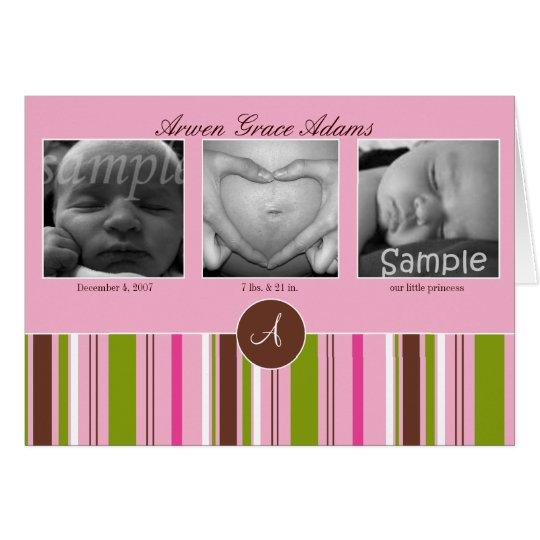 Invitación de la imagen del personalizado 3 - rosa tarjeta de felicitación