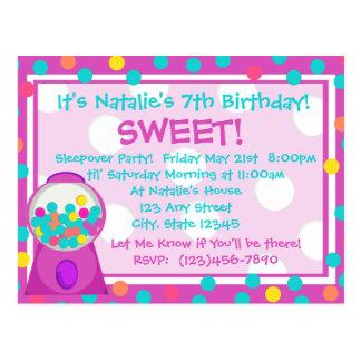 Invitación de la invitación de Bubblegum
