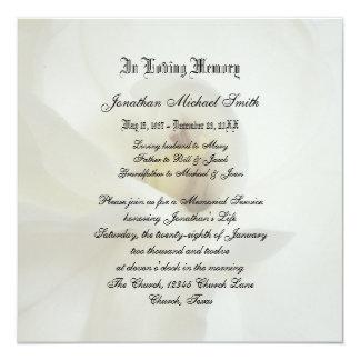 Invitación de la invitación de la ceremonia