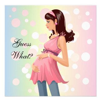 Invitación de la invitación del embarazo