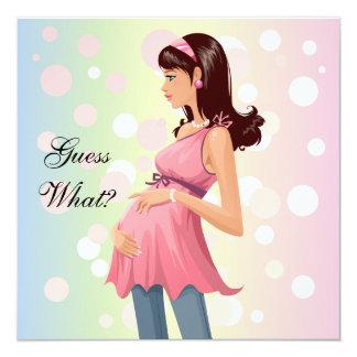 Invitación de la invitación del embarazo invitación 13,3 cm x 13,3cm