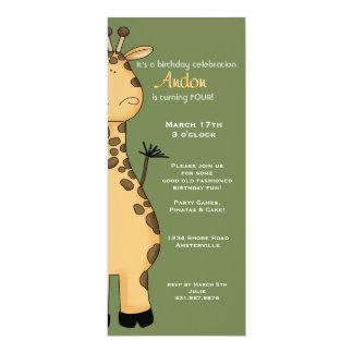 Invitación de la jirafa del Peekaboo Invitación 10,1 X 23,5 Cm