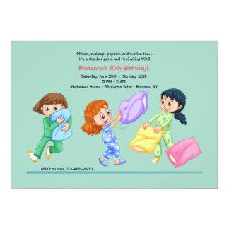 Invitación de la lucha de almohada