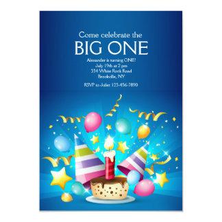 Invitación de la magdalena del cumpleaños