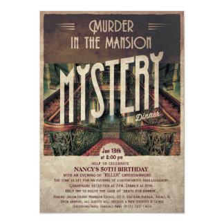 Invitación de la mansión del misterioso asesinato