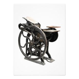 invitación de la máquina de la prensa de copiar