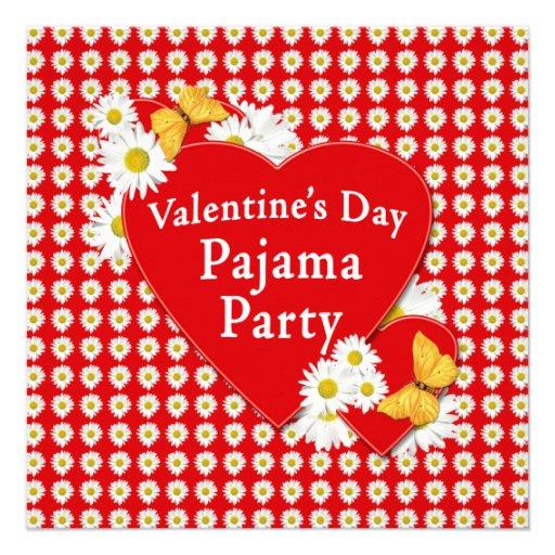 Invitación de la margarita del fiesta de pijama de