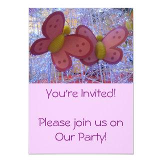 Invitación de la mariposa invitación 12,7 x 17,8 cm