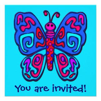 Invitación de la mariposa de la MOD