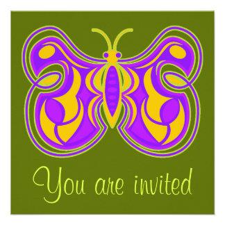 Invitación de la mariposa que remolina