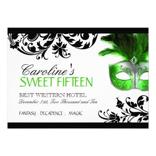 Invitación de la mascarada del dulce quince