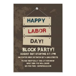 Invitación de la muestra del Día del Trabajo