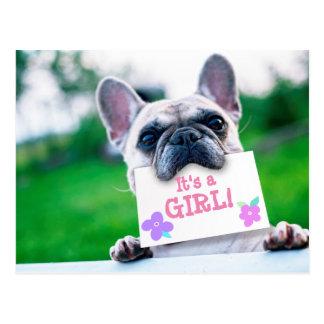 Invitación de la niña con personalizado del perro