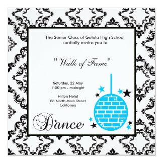 Invitación de la noche del baile de fin de curso