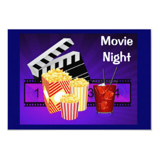 invitación de la pantalla del teatro de la noche