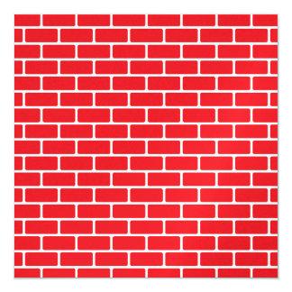 Invitación de la pared de ladrillo (divorcio - invitación 13,3 cm x 13,3cm