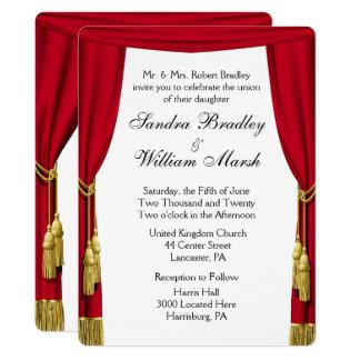 Invitación de la película/del boda del tema del