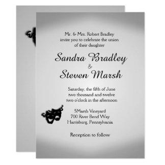 Invitación de la plata del boda del teatro