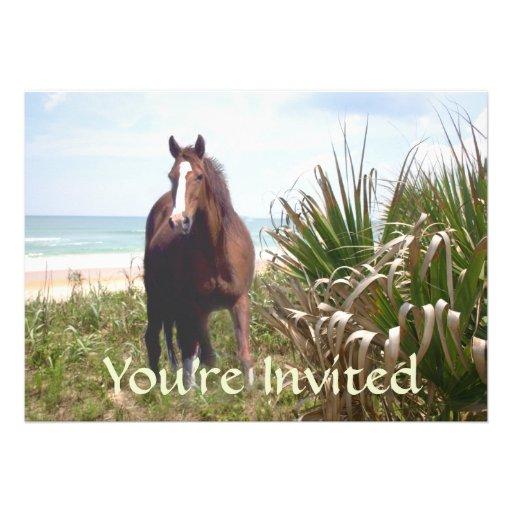 Invitación de la playa del caballo