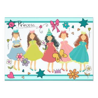Invitación de la princesa chicas marchosas 5x7