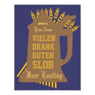 Invitación de la prueba de la cerveza