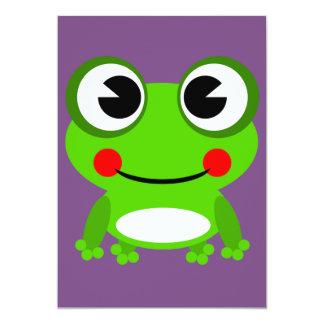 invitación de la rana de la rana del froggy