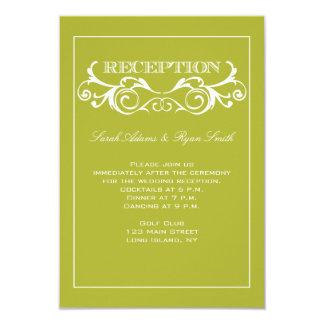 Invitación de la recepción de la verde lima del