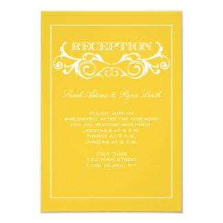 Invitación de la recepción del amarillo del