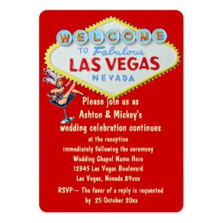 Invitación de la recepción nupcial de Las Vegas Tarjetas De Visita Grandes