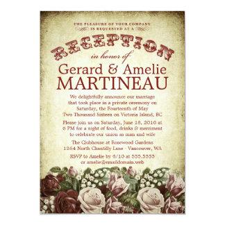 Invitación de la recepción nupcial de los rosas
