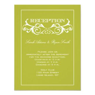Invitación de la recepción nupcial del remolino de