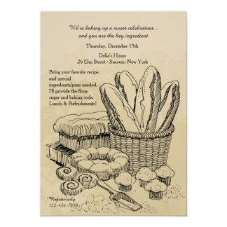 Invitación de la repostería y pastelería
