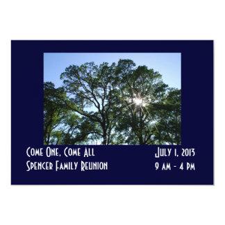 Invitación de la reunión de familia invitación 12,7 x 17,8 cm