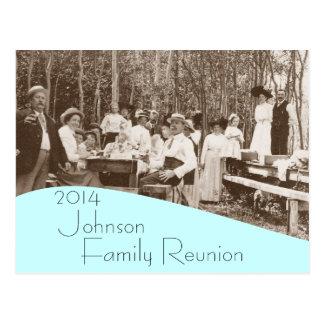 Invitación de la reunión de familia de la comida c postal