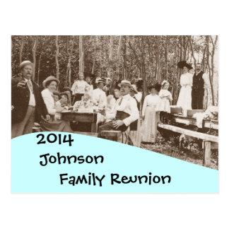 Invitación de la reunión de familia de la comida postal