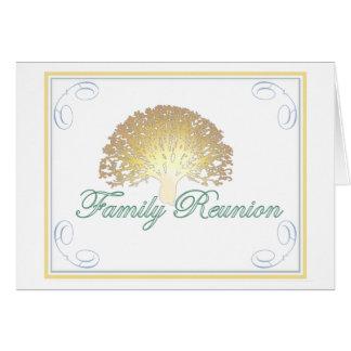Invitación de la reunión de familia del árbol del