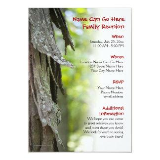 Invitación de la reunión de familia del bosque