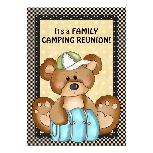 Invitación de la reunión de familia del oso que ac
