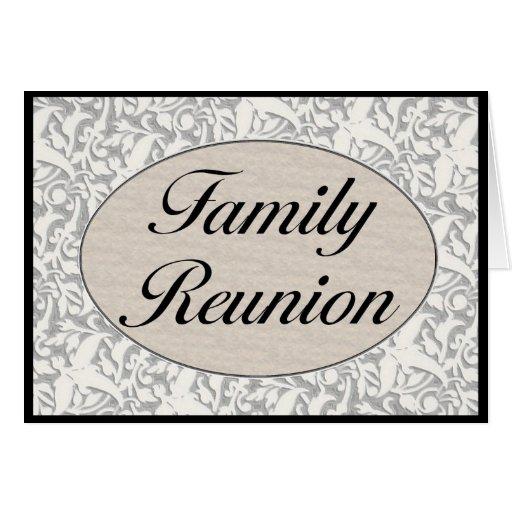 Invitación de la reunión de familia tarjeta