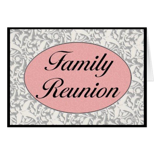 Invitación de la reunión de familia tarjeton