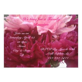 Invitación de la reunión de la primavera y de fami